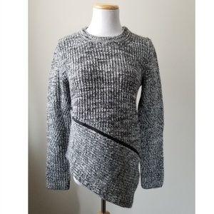 ANTHRO | JOHN + JENN Asymmetrical Zip Knit Sweater